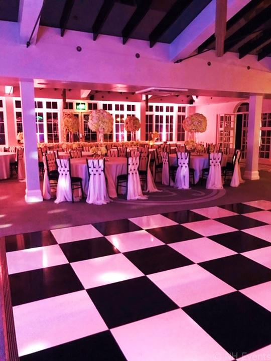 Newmarket Wedding 2019 - Uplighting Before and After - NH Events