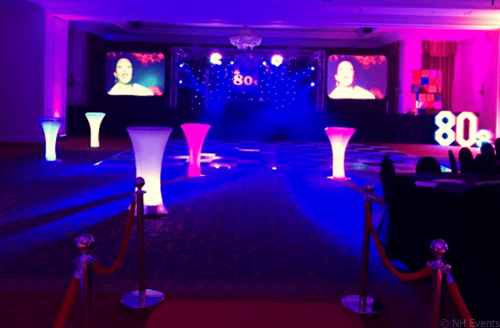 NH Events Retro Party Disco 80s Night at Lynford Hall, Norfolk - 2019